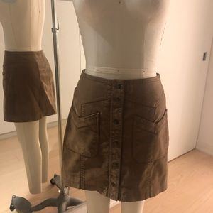 Free People Suede Skirt A line Tan Size 2 small